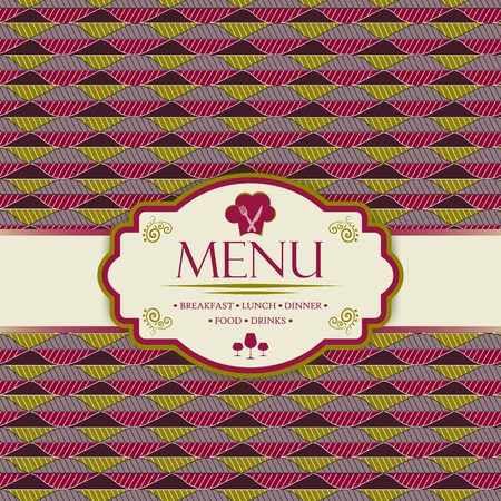 Menu template for restaurants, bars and beverages - breakfast, lunch, dinner, food and drinks