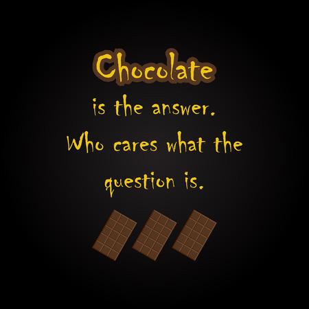 Citations de chocolat - modèle d'inscription drôle Banque d'images - 54056549