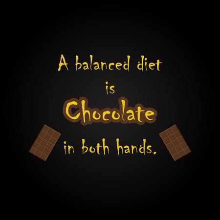 Citations de chocolat - modèle d'inscription drôle Banque d'images - 54056550