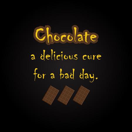 Citations de chocolat - modèle d'inscription drôle Banque d'images - 54056554