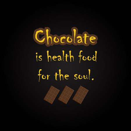 Citations de chocolat - modèle d'inscription drôle Banque d'images - 54056556