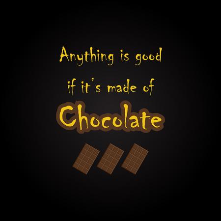 Chocolate quotes - funny inscription template Illusztráció