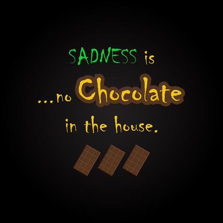 Citations de chocolat - modèle d'inscription drôle Banque d'images - 54056566