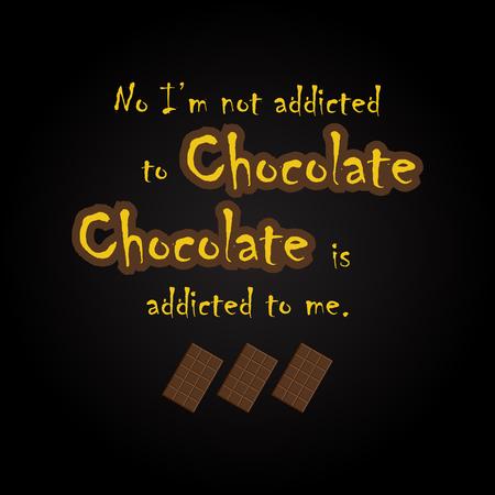 Citations de chocolat - modèle d'inscription drôle Banque d'images - 54056564
