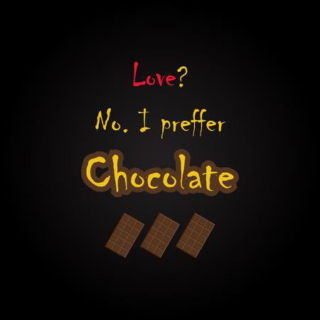 Citations de chocolat - modèle d'inscription drôle Banque d'images - 54056572