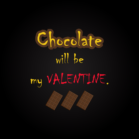 flyer layout: Chocolate quotes - funny inscription template Illustration