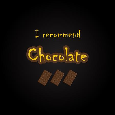 Citations de chocolat - modèle d'inscription drôle Banque d'images - 54056576