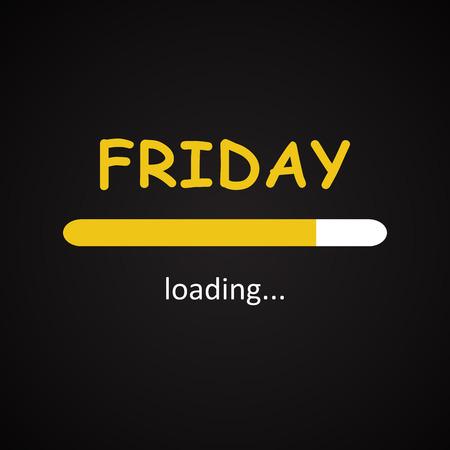 Friday loading - funny inscription template Stock fotó - 57527447