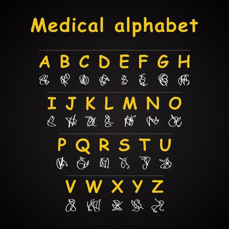 医療アルファベット - 面白い碑文テンプレート
