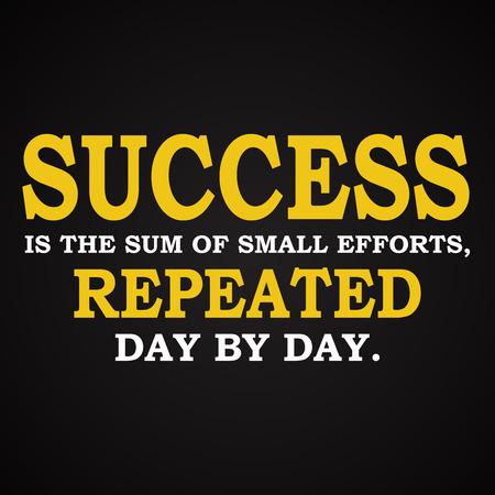 Success quotes - motivational inscription template