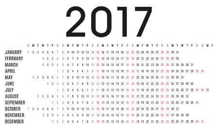 day planner: Simple 2017 calendar planner - day schedule