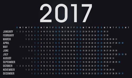 planner: Simple 2017 calendar planner - day schedule