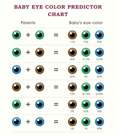 predictor: Baby predictor eye color chart template