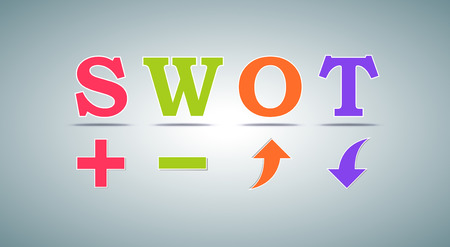 SWOT-analyse template voor commercieel en privé-gebruik Stockfoto - 57558172