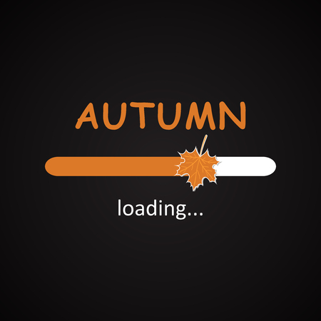 seasonal: Autumn loading - seasonal inscription template Illustration
