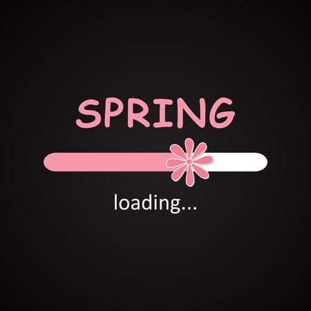 春のバー - 季節碑文テンプレート読み込み