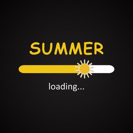 seasonal: Summer loading - seasonal inscription template