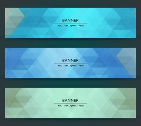 Various color polygonal banner template