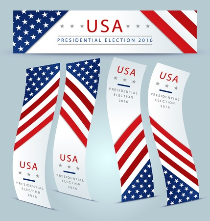 presidential: Presidential election banner background - USA 2016