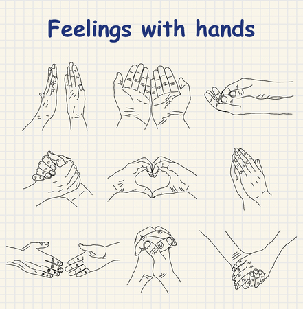 imploring: emotions - feelings with hands