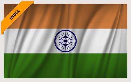 National flag of Republic of India - waving edition