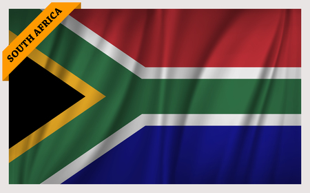 edition: National flag of South Africa - waving edition