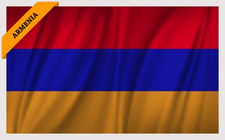 yerevan: National flag of Armenia - waving edition