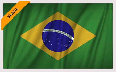 edition: National flag of Brazil - waving edition