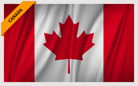 National Flag of Canada - waving edition