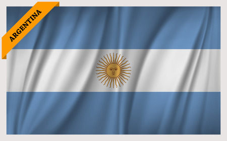 edition: National flag of Argentina - waving edition
