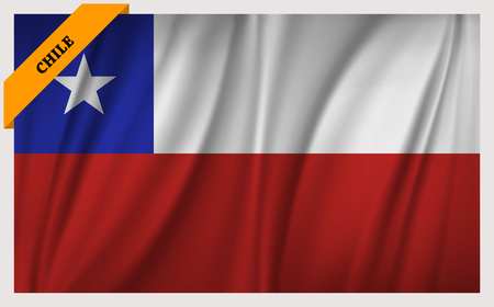 edition: National flag of Chile - waving edition