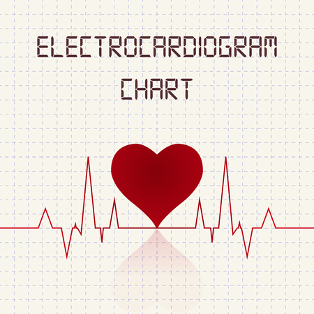 reflection of life: Electrocardiogram (ECG) chart table - healthcare infographic Illustration