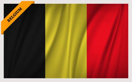 edition: National flag of Belgium - waving edition Illustration