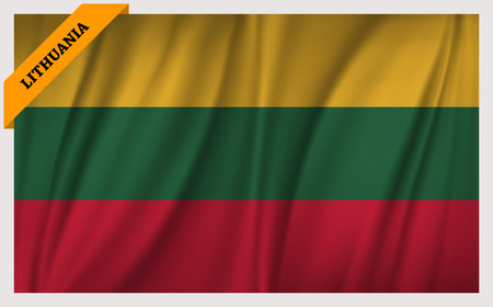 east berlin: National flag of Lithuania - waving edition