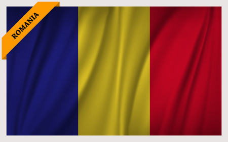 National flag of Romania - waving edition Stock Vector - 65449295