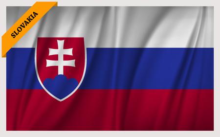 edition: National flag of Slovakia - waving edition Illustration