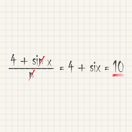 Mathematical equations - funny inscription template Illustration