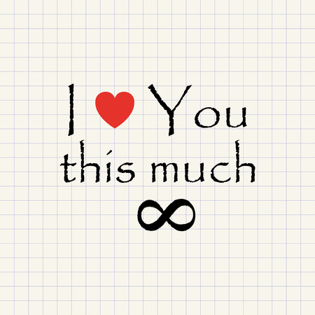 I love you this much - funny inscription template