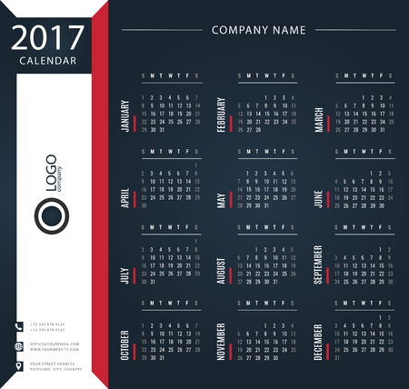 thursday: 2017 calendar, planner, organizer and schedule templates for companies and private use
