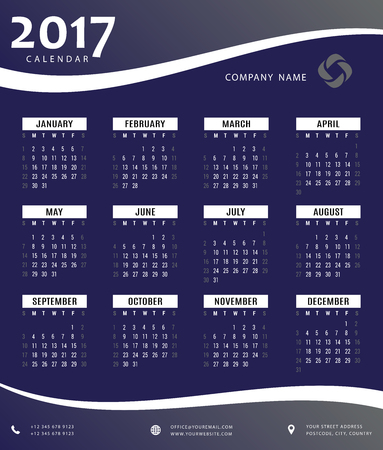 event planner: 2017 calendar, planner, organizer and schedule templates for companies and private use