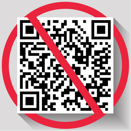 Interdiction of QR Codes - business type background template