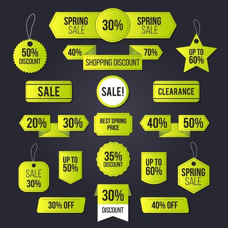 회원 봄 판매 상업 및 개인 사용 및 주로 통관 판매 설정합니다. 일러스트