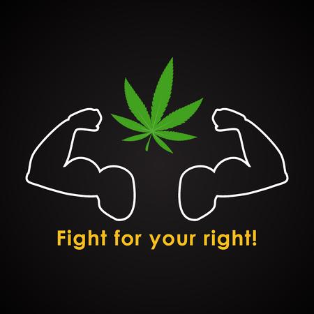 Lutte Pour Votre Droit Pour Le Cannabis Modele Drole De L 39 Horoscope Clip Art Libres De Droits Vecteurs Et Illustration Image 80786753