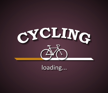 Cycling activity is loading with a bicycle silhouette design