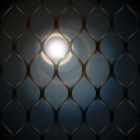 Moonlight behind bars background