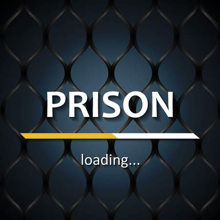 Prison loading bar template background