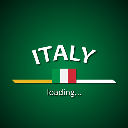 Italy flag loading bar - tourism banner for travel agencies and for other different events Illustration