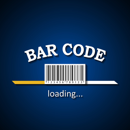 Bar Code loading bar background for private and commercial use