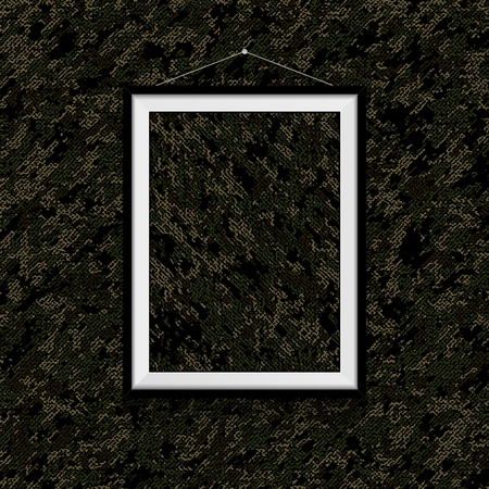 Camouflage textile photo on camouflage textile wall - army colors template