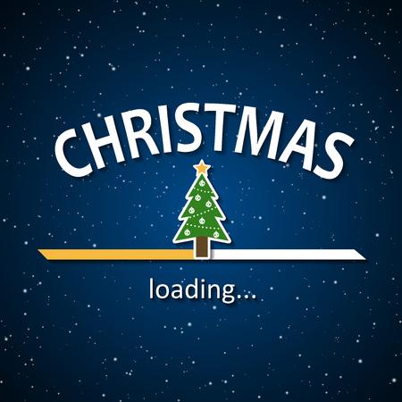 christmas is loading christmas tree loading bar background